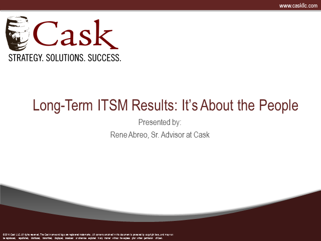 Long-Term ITSM Results - It's About People