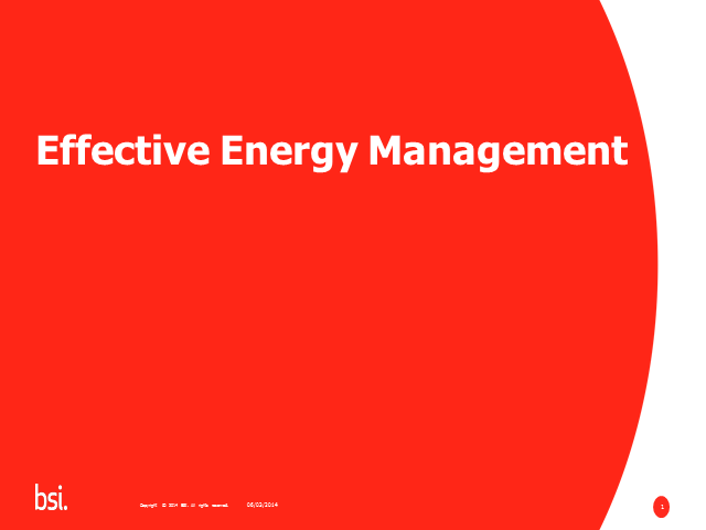 Drive Bottom Line Savings Through Effective Energy Management