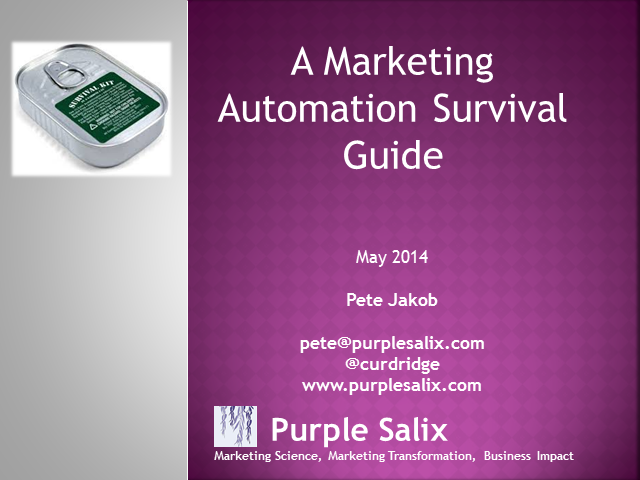 Marketing Automation Survival Guide