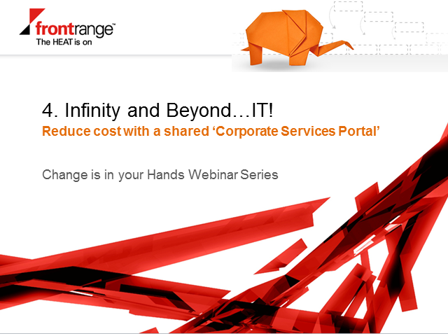 "Infinity & Beyond IT with a shared ""Corporate Services Portal"""