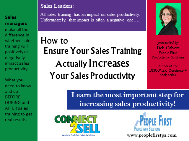 How to Ensure Your Sales Training Actually Increases Your Sales Productivity