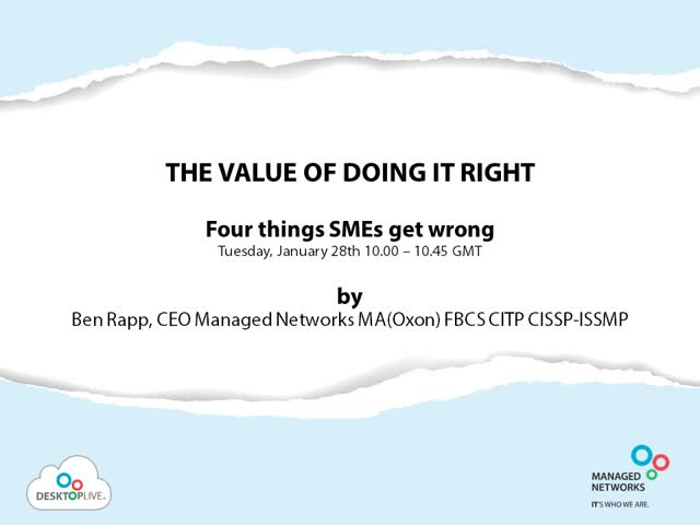 The Value of Doing IT Right: Four Things SMEs Get Wrong