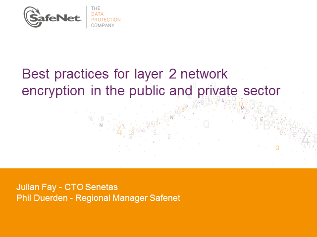Best practices for layer 2 network encryption in the public and private sector