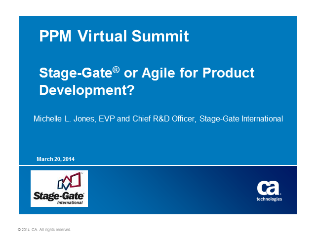 Stage-Gate® or Agile for Product Development – How to Choose