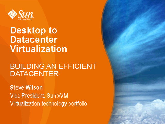 Virtualization: Building an Efficient Datacenter