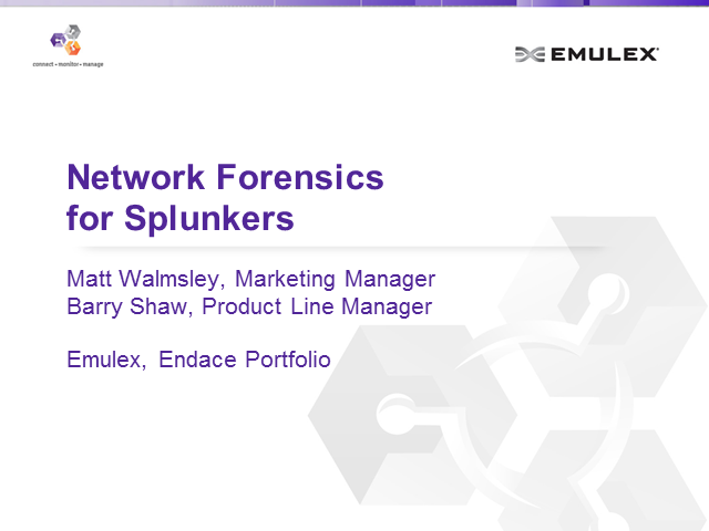 Network Forensics for Splunkers