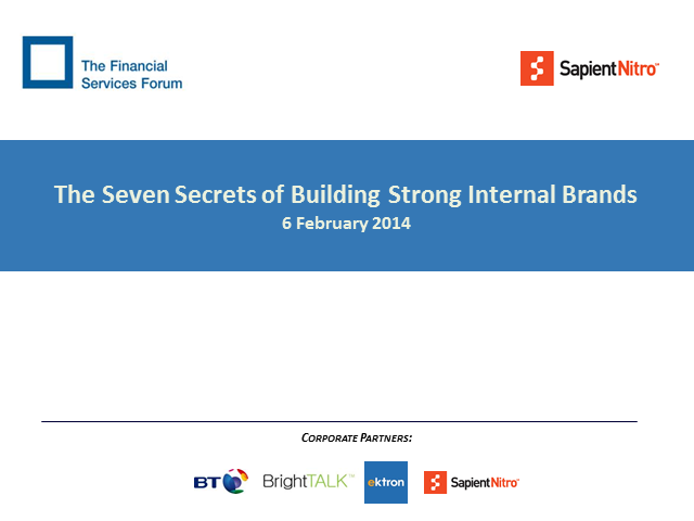 The Seven Secrets of Building Strong Internal Brands