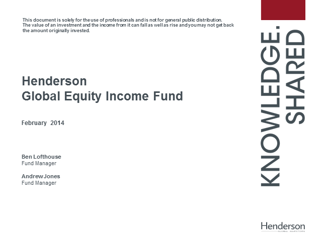 Henderson Global Equity Income Fund