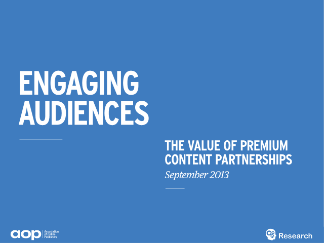 Engaging Audiences – The Value of Content Partnerships