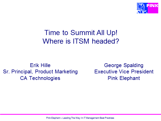 Time to Summit All Up! Where is ITSM headed?