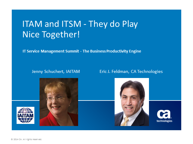 ITAM and ITSM - They do Play Nice Together!