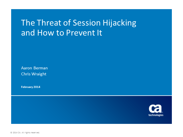 The Threat of Session Hijacking and How You Can Prevent It