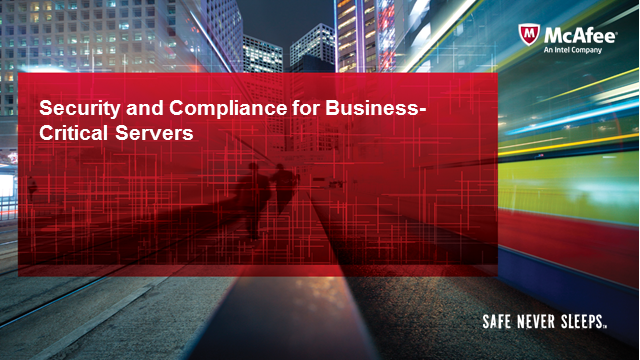 Security and Compliance for Business-Critical Servers