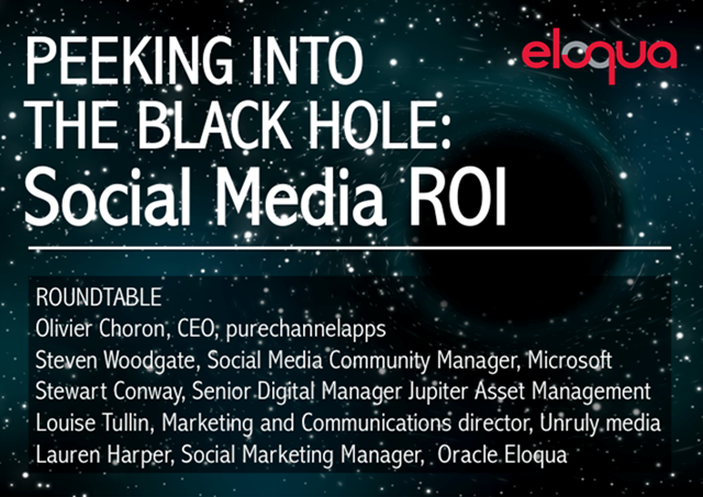 Peeking Into the Black Hole: Social Media ROI Roundtable