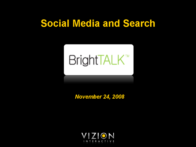 Social Media and Search Marketing