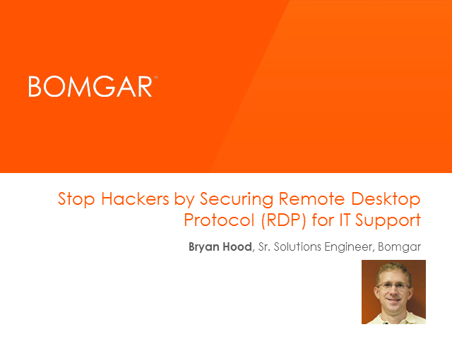 Stop Hackers by Securing Remote Desktop Protocol (RDP) for IT Support