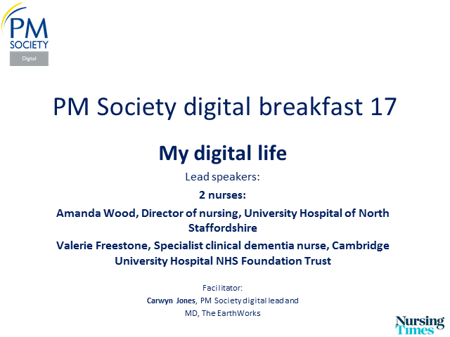 Digital Breakfast 17 - My Digital Life (2 nurses)