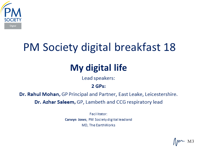 Digital Breakfast 18 - My Digital Life (2 GPs)