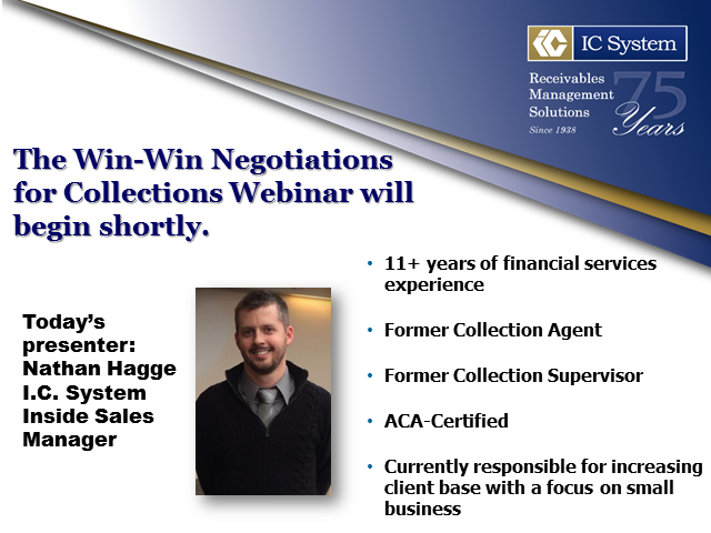 Win-Win Negotiations for Collections