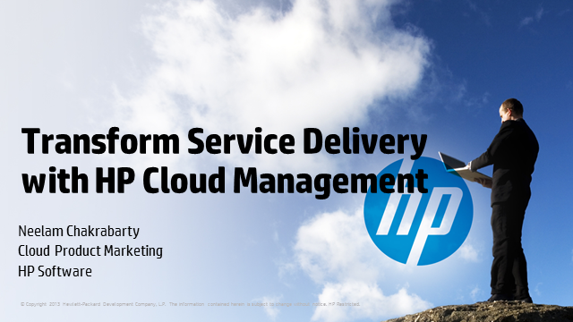 Transform Service Delivery with HP Cloud Management