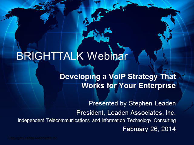 Developing a VoIP Strategy That Works for Your Enterprise