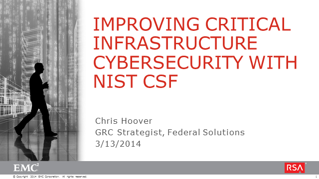 Improving Critical Infrastructure Cybersecurity with NIST CSF