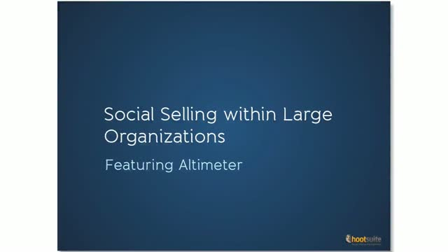 Social Selling for Large Organizations