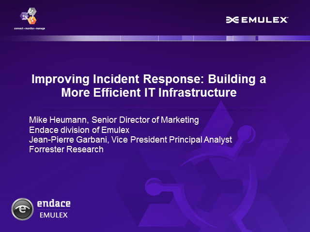 Improving Incident Response: Building a More Efficient IT Infrastructure