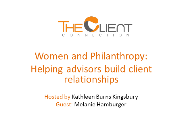 Women and Philanthrophy