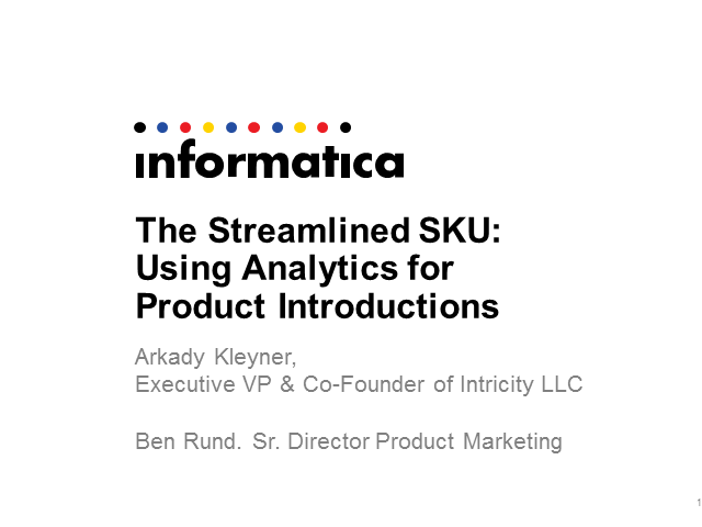 The Streamlined SKU: Using Analytics for Product Introductions