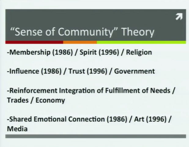 "Intro to Community Psychology and the ""Sense of Community"" Theory"