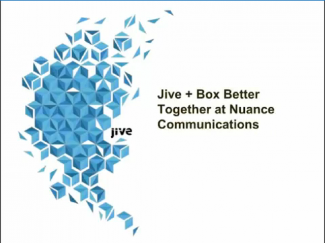Jive + Box: Better Together at Nuance Communications