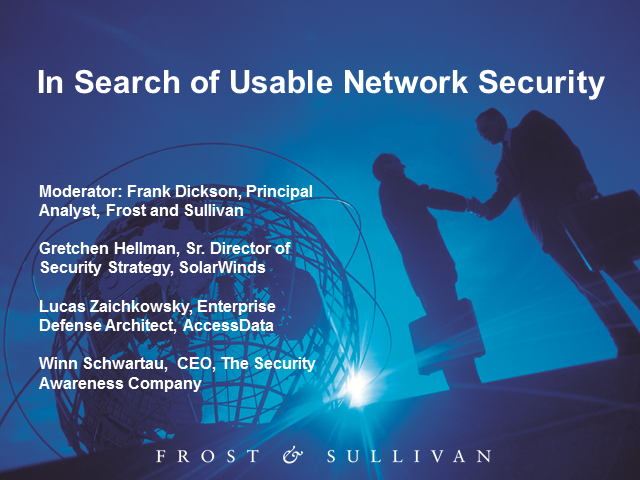 Panel: In Search of Usable Network Security