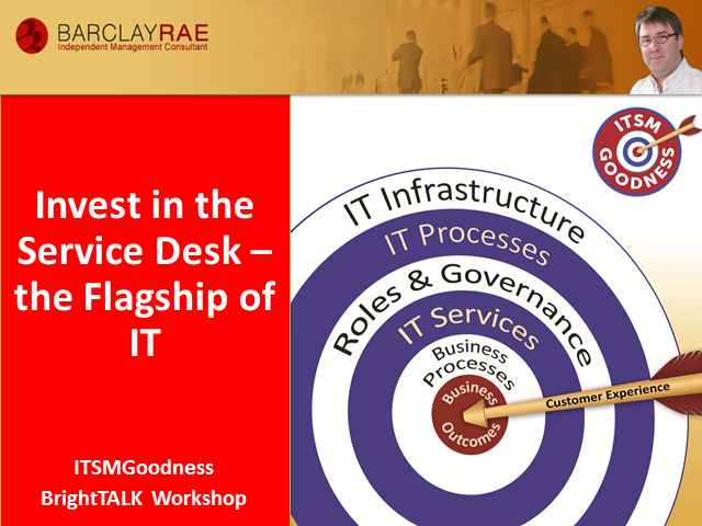 Invest in the Service Desk - ITSM Goodness Series - Part 3 of 8