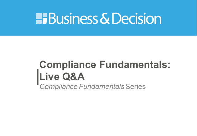 Compliance Fundamentals Live Session 1