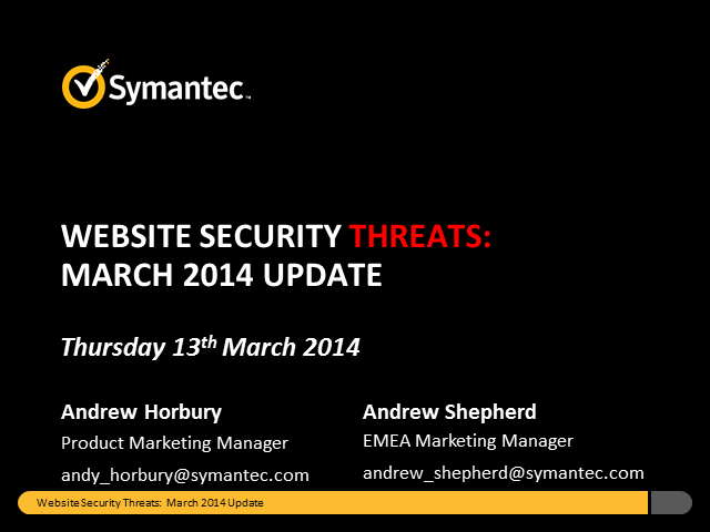 Website Security Threats: March Update