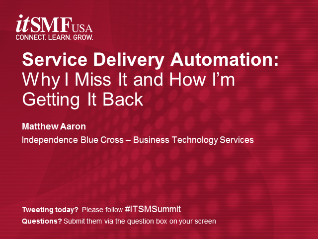 Service Delivery Automation: Why I Miss It and How I'm Getting It Back