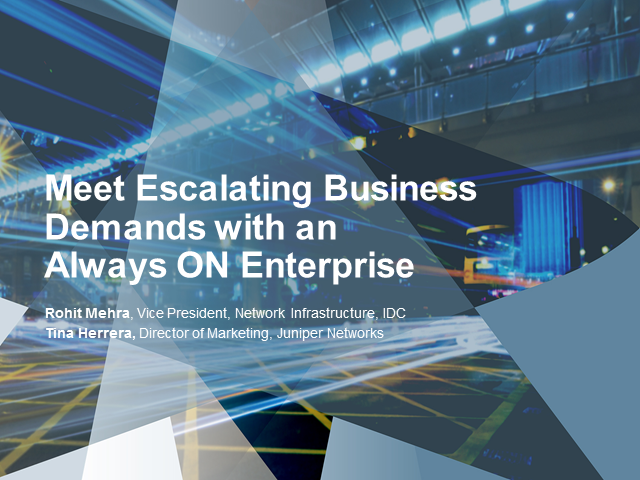 Meet Escalating Business Demands with an Always ON Enterprise