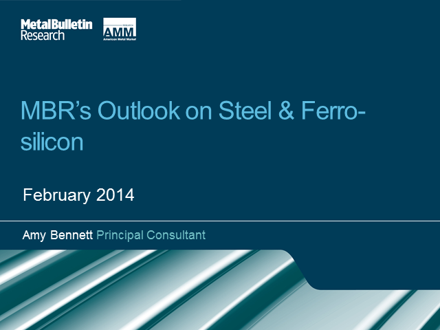 MBR's Outlook Steel & Ferro-silicon
