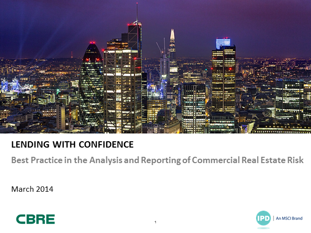 IPD/CBRE Lending with confidence paper