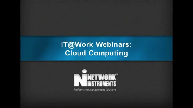 IT@Work Webinars: Cloud Computing