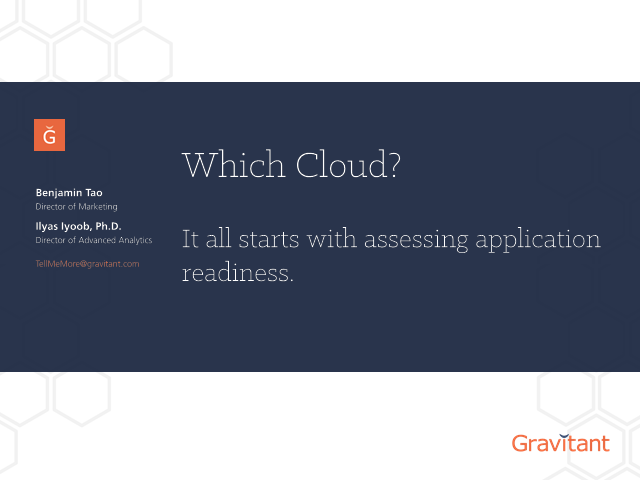 Which Cloud? It All Starts with Assessing Application Readiness