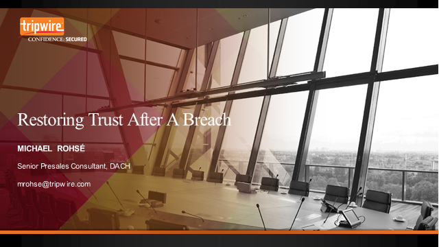 How to Restore Trust After a Breach – DACH