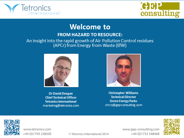 From Hazard to Resource: Insight into the rapid growth of APC residue from EfW