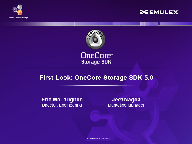 First Look Webcast: OneCore Storage SDK 5.0
