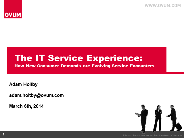 Service Experience: Evolving IT Service Encounters to Meet New Service Demands