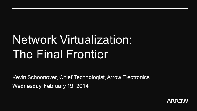 Network Virtualization: The Final Frontier
