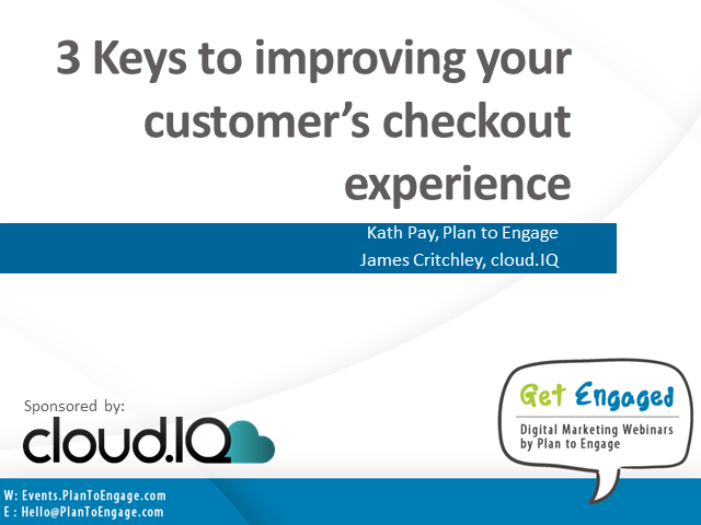 3 keys to improving your customers checkout experience
