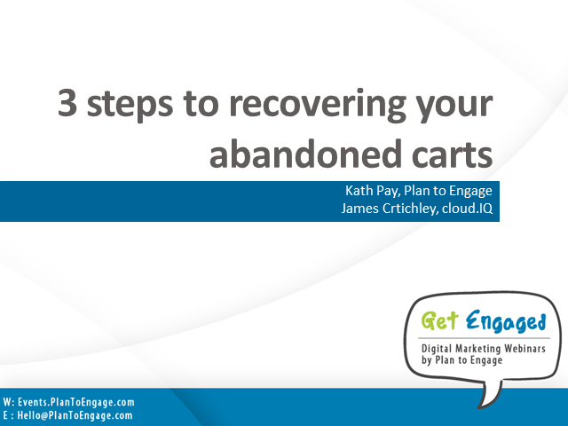 3 steps to recovering your abandoned carts and generate increased revenue