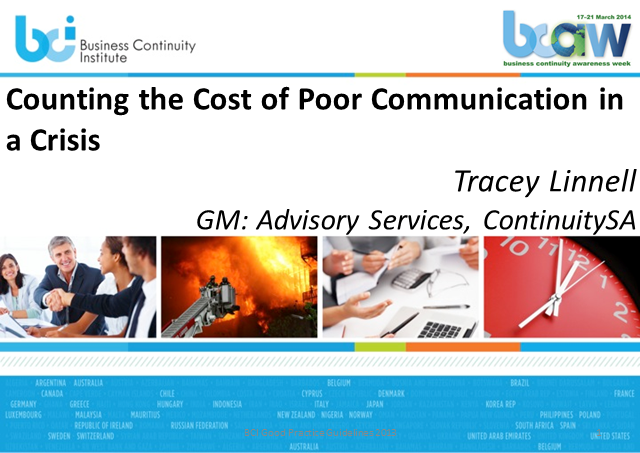 Counting the Cost of Poor Communication in a Crisis